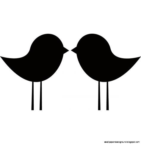 Love Birds Kissing Silhouette Clip Art