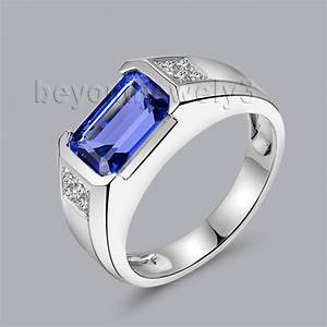 319ct natural diamond tanzanite rings in 18kt white gold With boy wedding rings