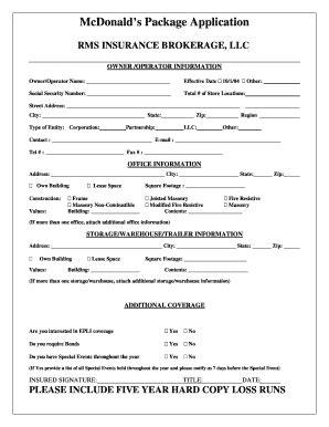 printable application  mcdonalds employment forms