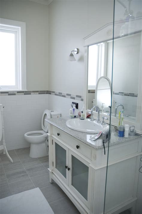 gray and white bathroom tjihome