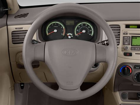 image  kia rio  door sedan auto lx steering wheel