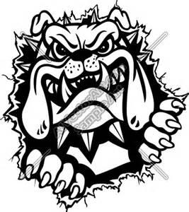 Bulldog Mascot Clip Art
