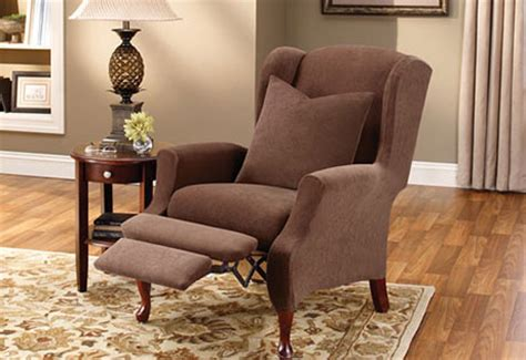 Wing Chair Recliner Slipcover by Recliner Slipcovers Sure Fit Home Decor