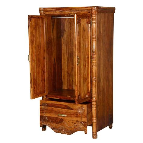 Wood Armoire Wardrobe by Volusia Solid Wood Single Drawer Provincial