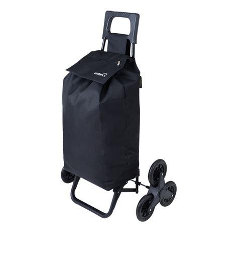 chariot de courses pliable 6 roues garmol noir galeries lafayette
