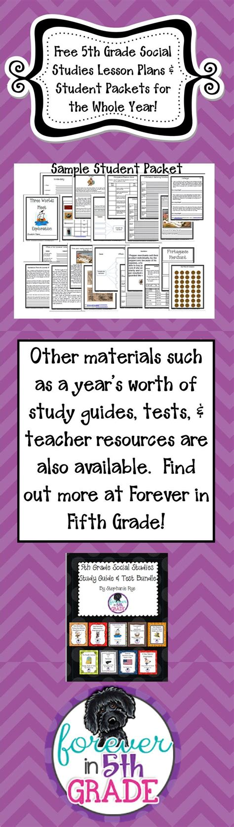 Free Lesson Plans And Student Packets For The Whole Year! Find Out More At Forever In Fifth