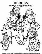 Firefighter Coloring Pages Fire Printable Sheets Fireman Safety Colouring Printables Responders Clipart Firemen Worksheets Dog Fighters Printing Police Template Dalmatian sketch template