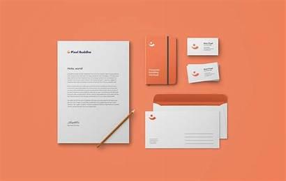 Mockup Branding Psd Identity Stationery Brand Visual