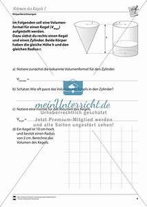 Volumen Eines Kreises Berechnen : geometrische k rper kegelvolumen berechnen meinunterricht ~ Themetempest.com Abrechnung