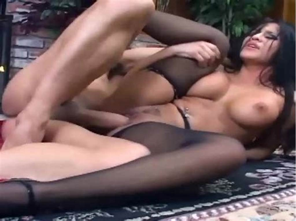 #Fucking #On #The #Floor #In #Sheer #Black #Pantyhose