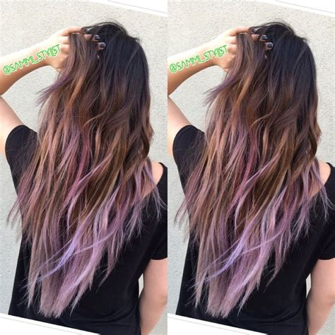 Black Hair With Brown Tips by Best 25 Colored Hair Tips Ideas On Dyed Tips