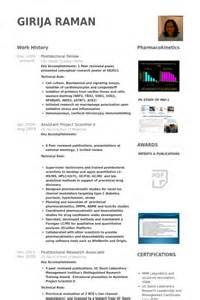 Biology Postdoc Resume by Postdoc Cv Beispiel Visualcv Lebenslauf Muster Datenbank