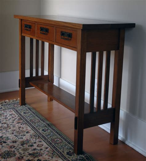 building  craftsman style hall table  craftsman