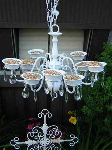 bird feeder from chandelier recyclart