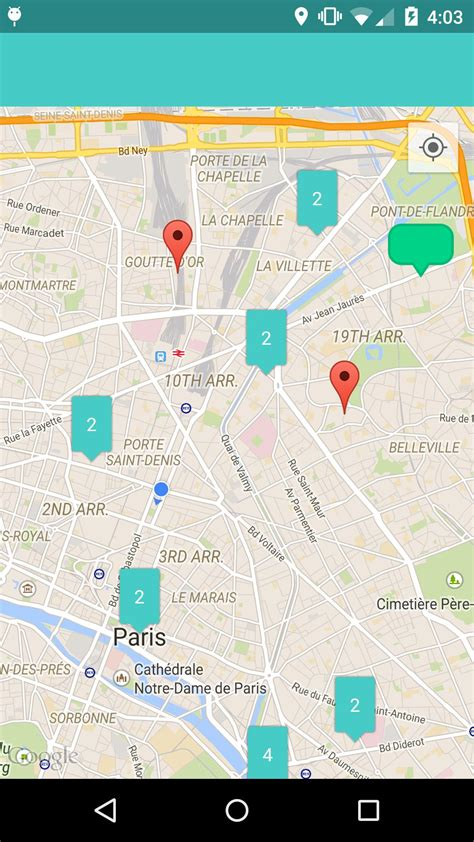 maps app for android android maps cluster item marker icon with