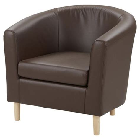 buy tub chair faux leather chocolate brown from our