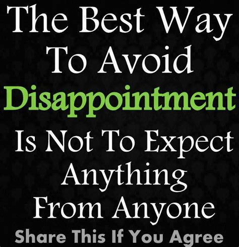 avoid disappointment love  sayings
