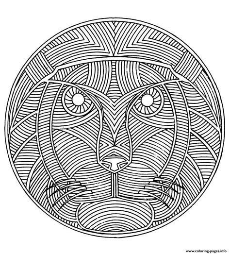 Coloring Mandala by Africa Mandala Coloring Pages Printable