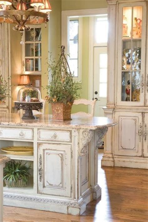 kraftmaid kitchen islands picture of shabby chic whitewashed kitchen island and cabinets