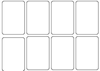 blank card game template  persha darling teachers pay