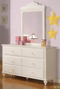 Pepper White Traditional Girls Sleigh Bedroom Set