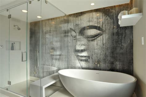 beach scene bathroom mural dining room contemporary with