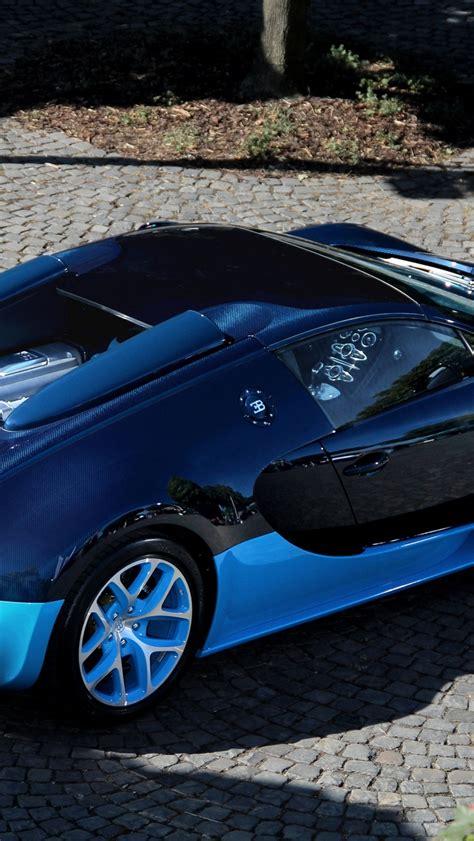 Luxury bugatti veyron wallpaper this great picture for your phone! Blue Bugatti Veyron Grand Sport Vitesse Wallpaper 640 x 1136 iPhone 5 Wallpaper