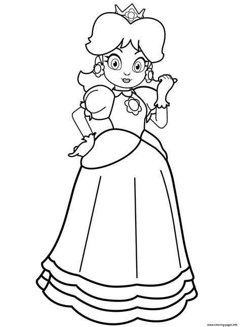 princess daisy coloring pages printable