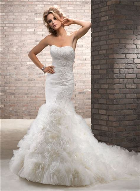 cutest wedding dresses mermaid lace sparkles tulle floral wedding dress with
