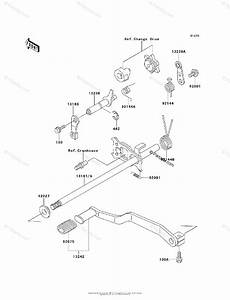 Kawasaki Atv 1995 Oem Parts Diagram For Gear Change