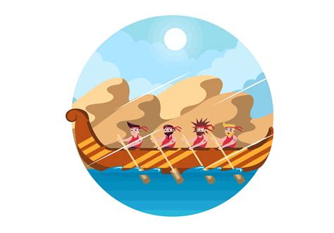 Onam Boat Icon by Kerala Boat Race Vector Download Free Vector Art Stock