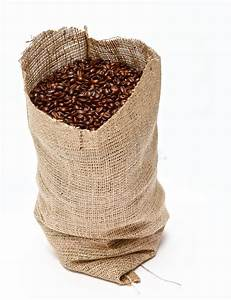 Sack of coffee beans stock image. Image of textured ...