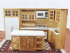 dolls house kitchen furniture doll house kitchen furniture wooden toys cabinet w oven microwave fridge sink 1 12 scale