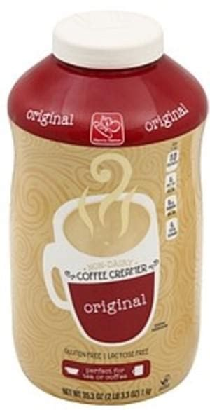 For the most current data, please reference the nutritional panel on. Harris Teeter Non-Dairy, Original Coffee Creamer - 35.3 oz, Nutrition Information | Innit