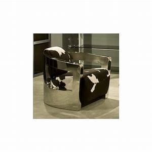 fauteuil peau de vache et inox With tapis peau de vache avec canapé d angle pied bois