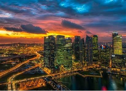 Ultrawide Monitor Wallpapers Glowing Singapore Wallpapersafari Code