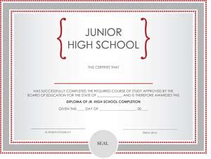 junior high school diploma certificate small business