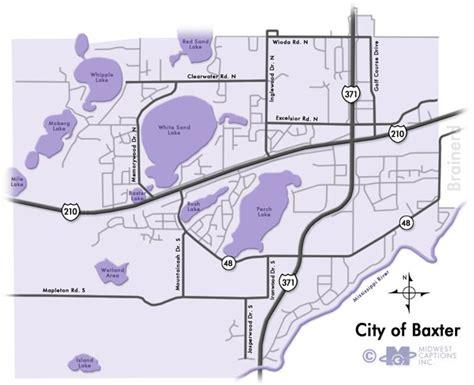 Baxter MN Map | Minnesota City Map | Baxter MN Lakes ...