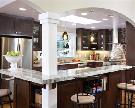 decore cuisine kitchen columns home design ideas pictures remodel and decor