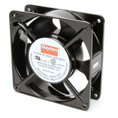 dayton axial fan 115 volts ac 20 watts 117 cfm