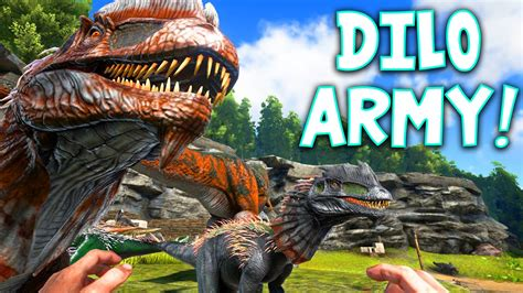 ark survival evolved dilo army community albums
