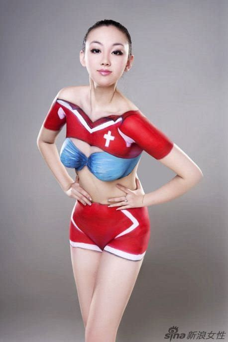 Sexy Asian Full Body Painted Girls In Action Unbelievable And Surprising Photos