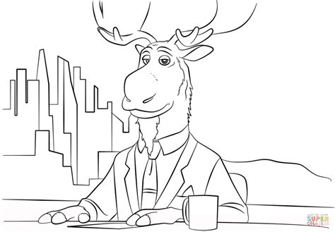 Peter Mansbridge From Zootopia Coloring Page