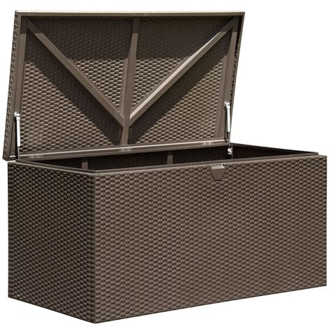 outdoor metal storage box in deck boxes