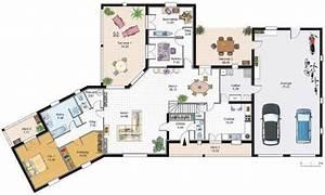 grande maison familiale detail du plan de grande maison With plan maison avec patio 1 plan de maison traditionnelle estran