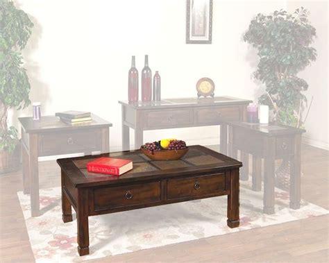 Sunny Designs Santa Fe Coffee Table With Slate Top Su3143dc
