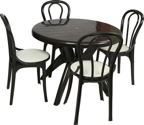 Dining Table Chairs Price by Supreme Black Plastic Table Chair Set Price In India