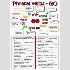 Phrasal Verbs  Go Worksheet  Free Esl Printable