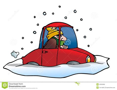 Car Stuck In Snow Clipart