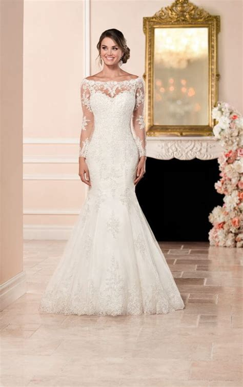 Long Sleeved Wedding Dress With Illusion Back Stella York